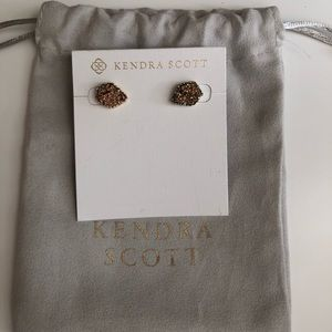 Kendra Scott Tessa Stud Earrings: Rose Gold Drusy